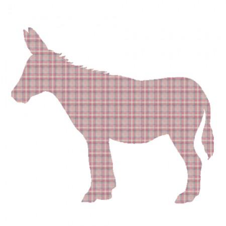 Inke Tapetentier Esel Karo rot