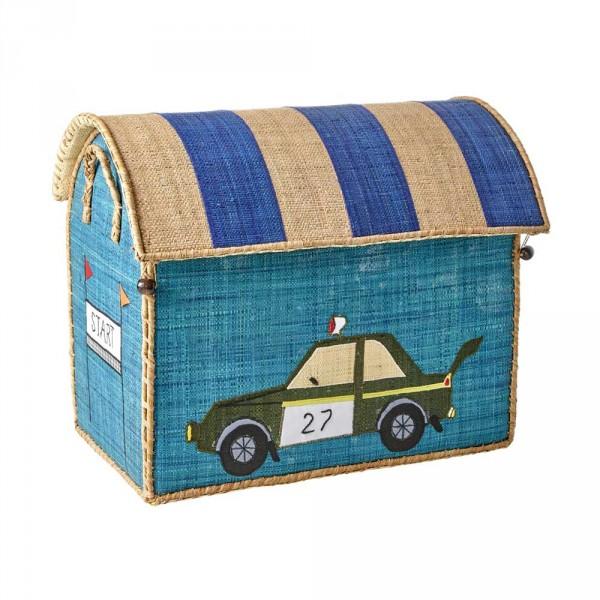 Rice Spielzeugkorb Fahrzeuge mittel türkis