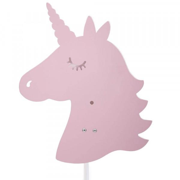 Roommate Wandlampe Metall Einhorn rosa