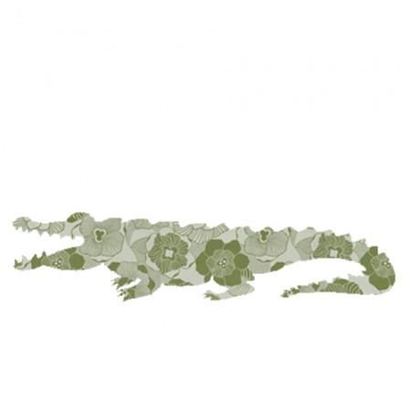 Inke Tapetentier Krokodil Ranke oliv