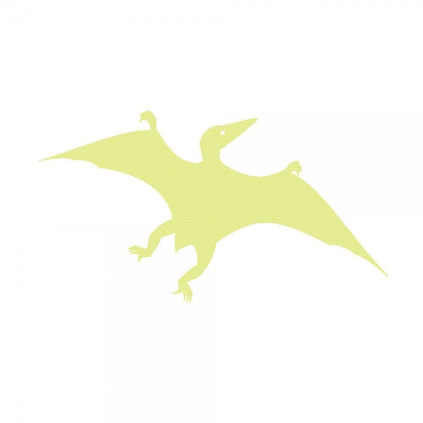 Inke Tapetendino Pterosaurus grün Punkte weiss