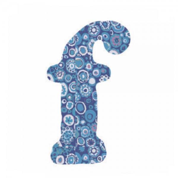 Lilipinso Sticker blau Buchstabe f