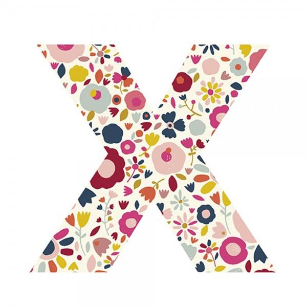 Lilipinso Sticker Buchstabe geblümt X