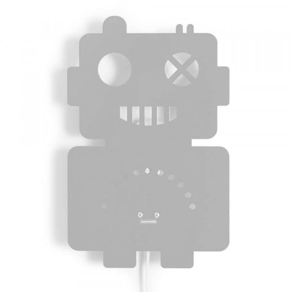 Roommate Wandlampe Metall Roboter grau