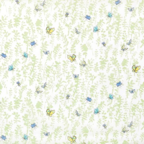 Osborne & Little Voile Schmetterlinge grün