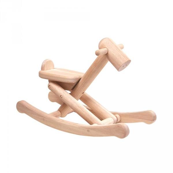 Plan Toys Schaukelpferd klappbar Holz natur