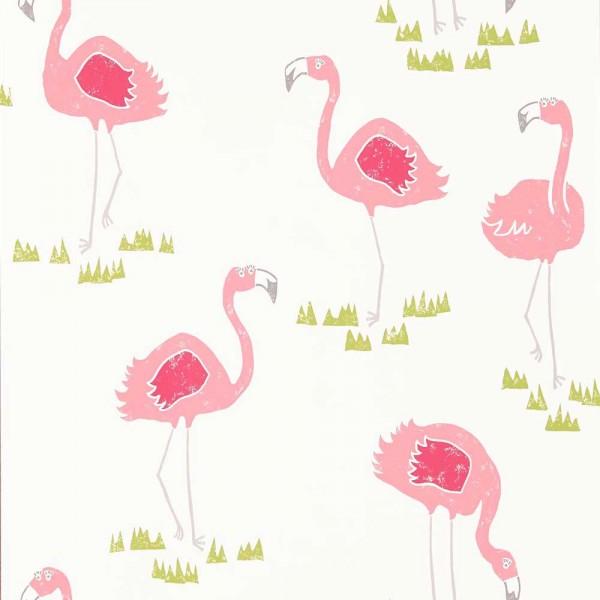 Scion Guess Who Tapete Flamingos pink grün