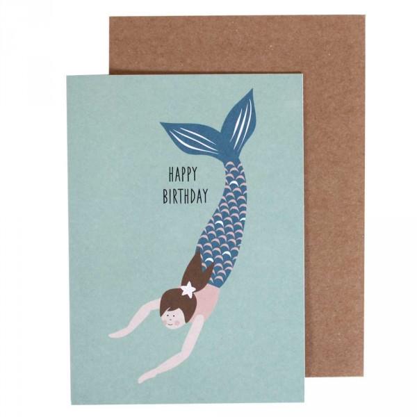 Ava & Yves Glückwunsch Klappkarte Meerjungfrau