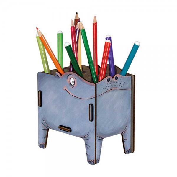 Werkhaus Stiftebox Vierbeiner Hippo