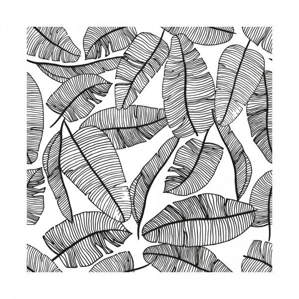 Lilipinso Vlies Tapete Blätter grau