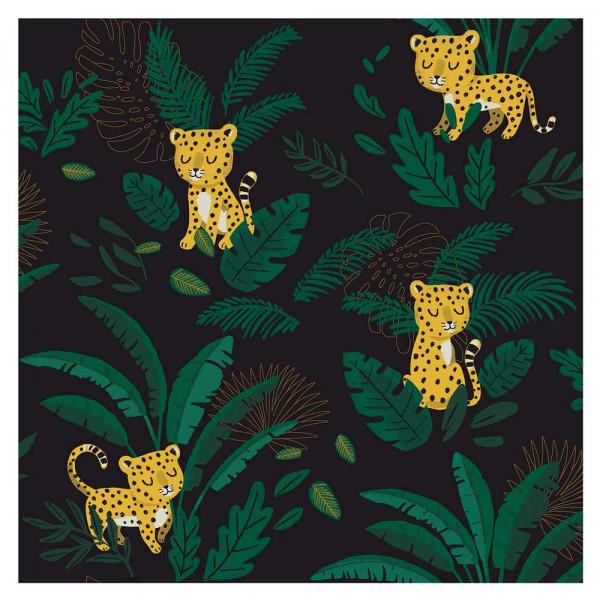 Lilipinso Vlies Tapete Schlafender Gepard dunkel