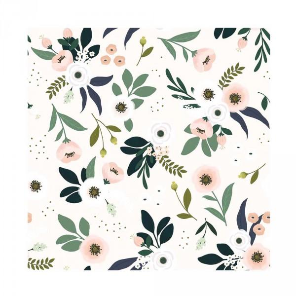 Lilipinso Vlies Tapete Blumen hell rosa grün
