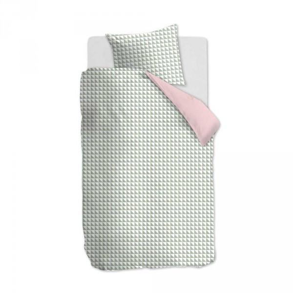 Beddinghouse Wendebettwäsche Faas Dreiecke grün rosa 135 x 200