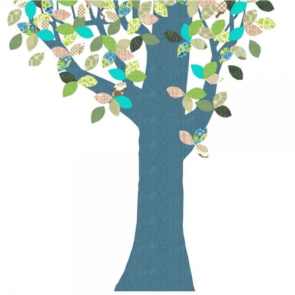 Inke Tapetenbaum blau