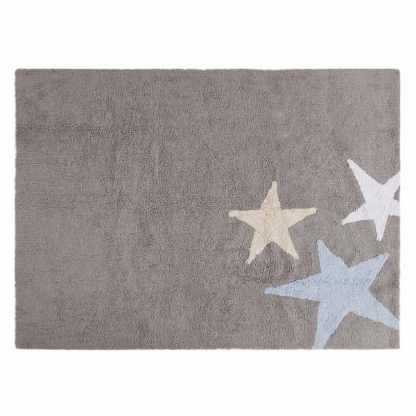 Lorena Canals Teppich 3 Sterne grau blau