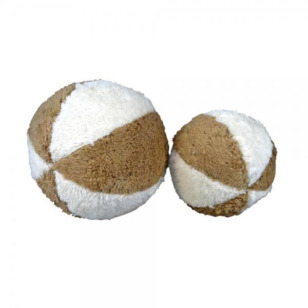 Senger Ball mit Rassel weiß beige