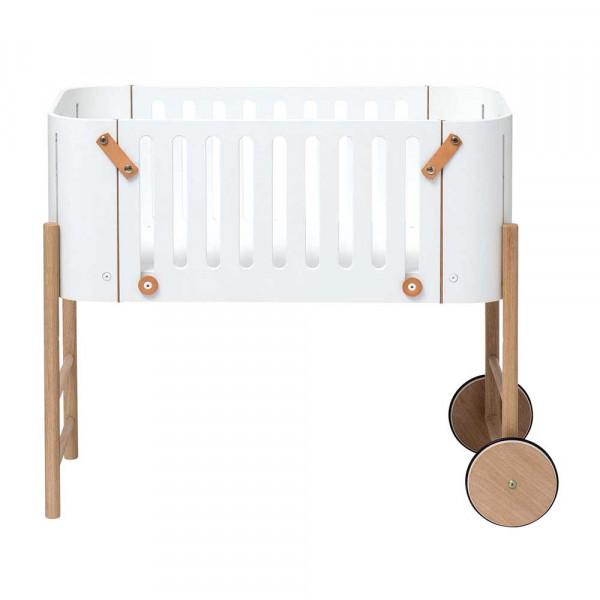Oliver Furniture Wood Beistellbett inkl. Bank weiss mit Eiche