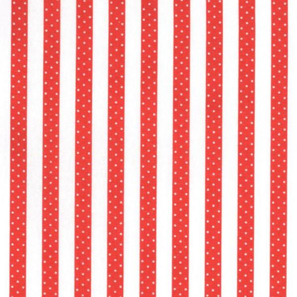Casadeco Punkte Streifenstoff rot Jules & Julie