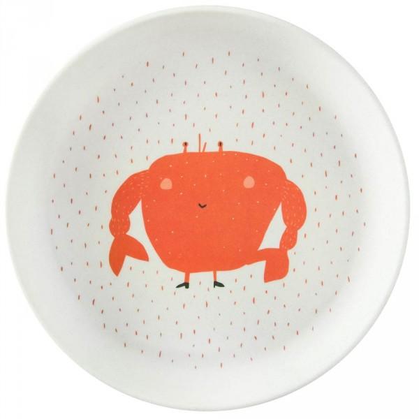 Trixie Bambus Teller Krabbe Mrs. Crab