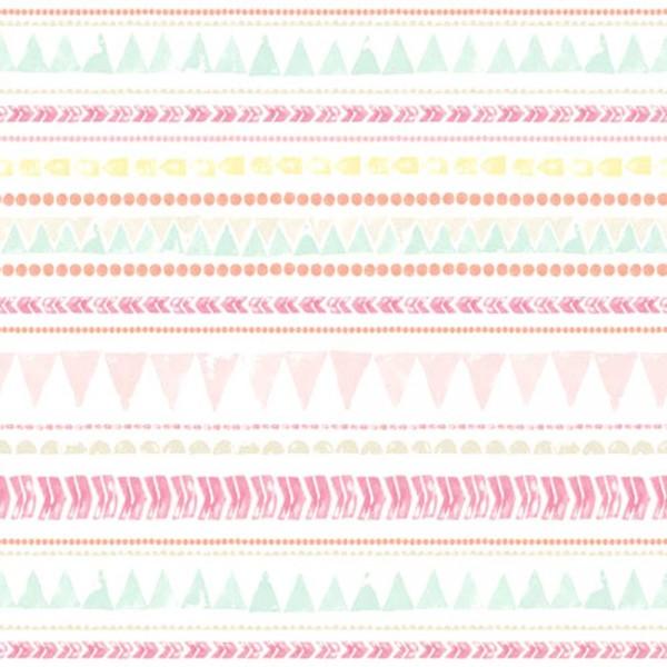 Eijffinger Tout Petit Tapeten Wandbild Wimpelketten pink aqua rosa