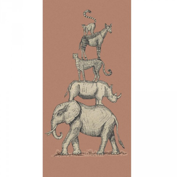 Eijffinger Wandbild Safari Tiere rot