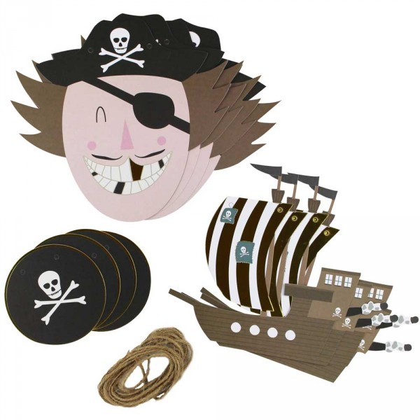 Ava & Yves Partygirlanden Pirat