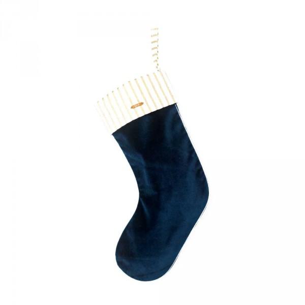 Ferm Living Weihnachtsstrumpf blau Samt