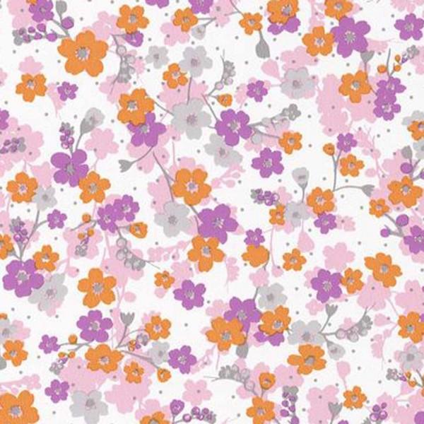 Caselio Pretty Lili Tapete Blümchen rosa lila orange