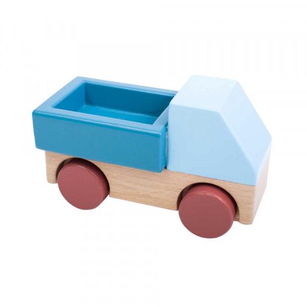 Sebra Holz Spielzeugauto Lastwagen hellblau