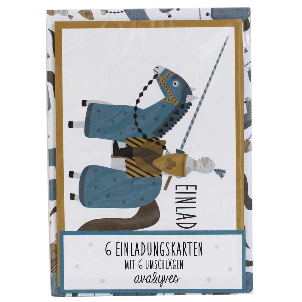 ava  yves einladungskarten kindergeburtstag ritter bei