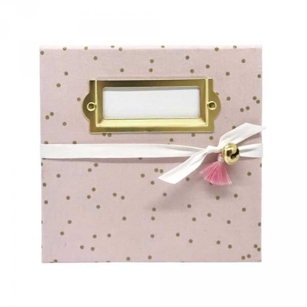 f is for frida Fußabdruck Baby Box Frida rosa