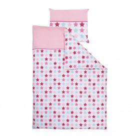 Little Dutch Bettwäsche Mixed Stars Pink 135 X 200 Bei Kinder Räume