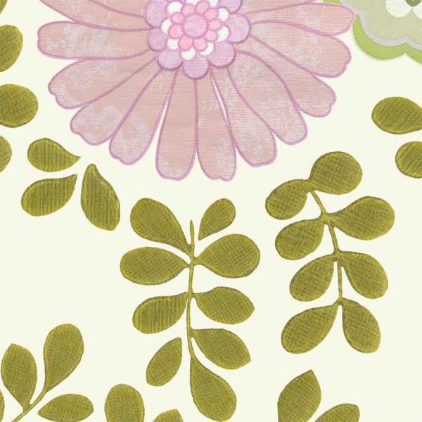 Inke Tapeten Wandbild Vintage Blätter creme