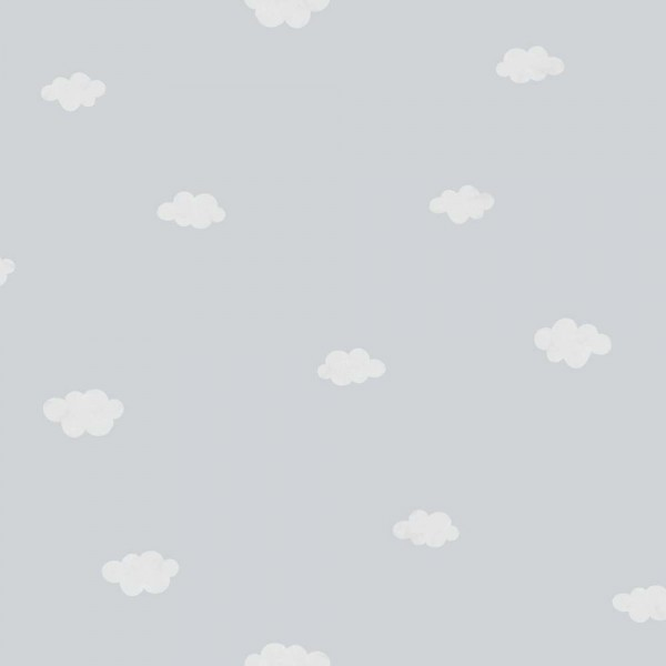 Casadeco My Little World Tapete weisse Wolken auf grau