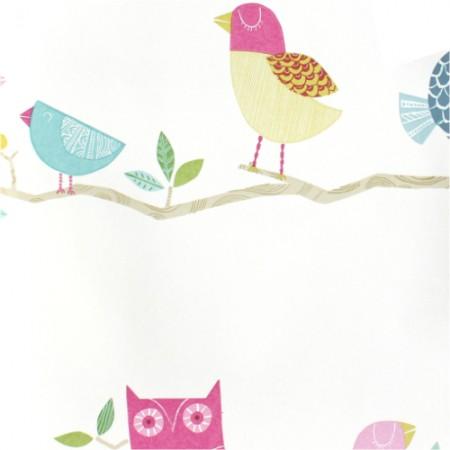 Harlequin Tapete Vögel rosa