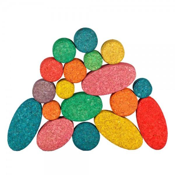 Korxx 40 Kork Bauklötze farbig Kuller C Mix