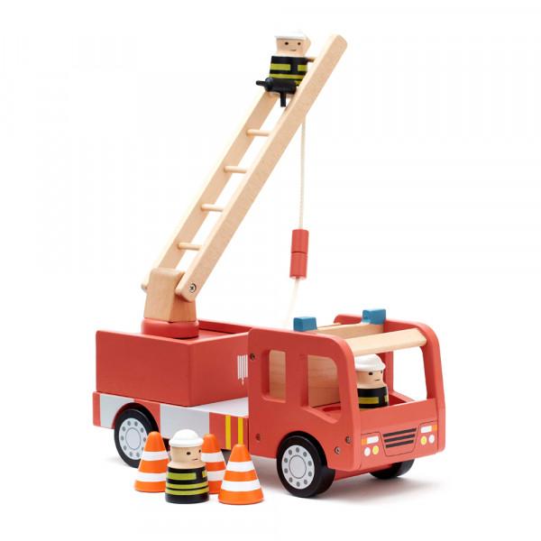 Kids Concept Spielzeug Feuerwehrauto Holz