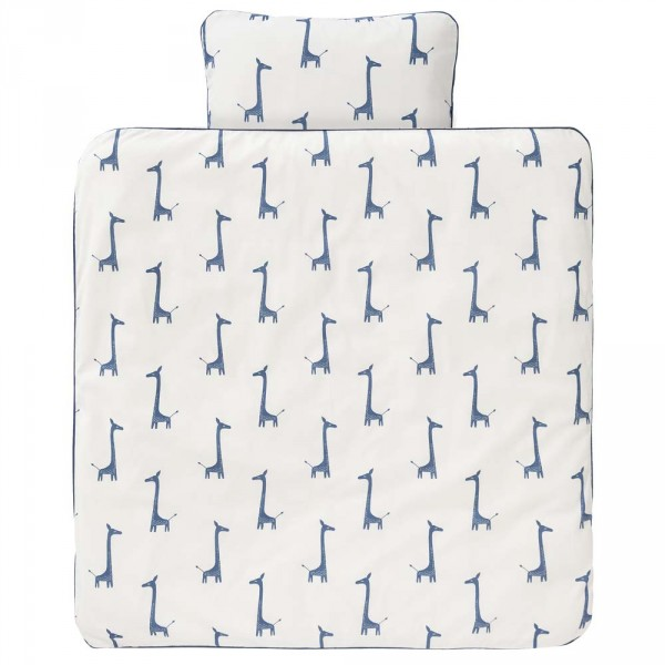 Fresk Kinderbettwäsche Giraffe blau