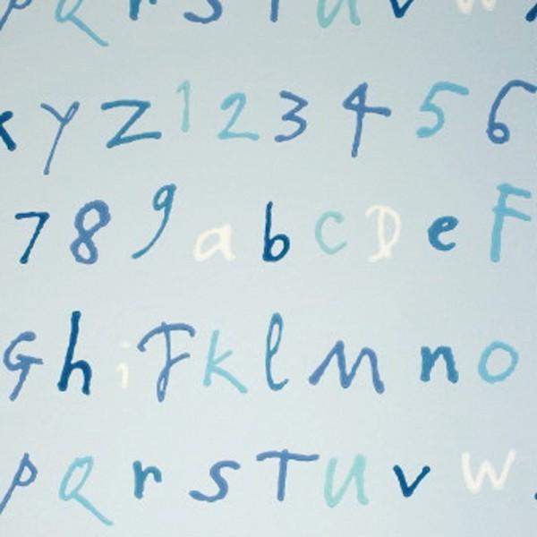 Osborne & Little Tapete Buchstaben blau