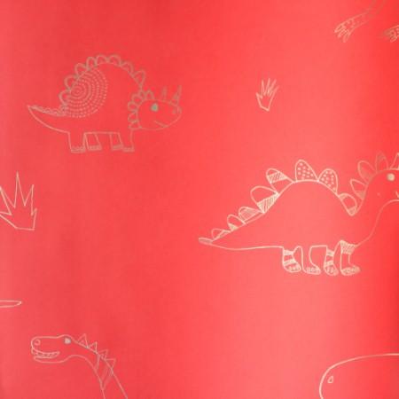Harlequin Dino Tapete rot gold