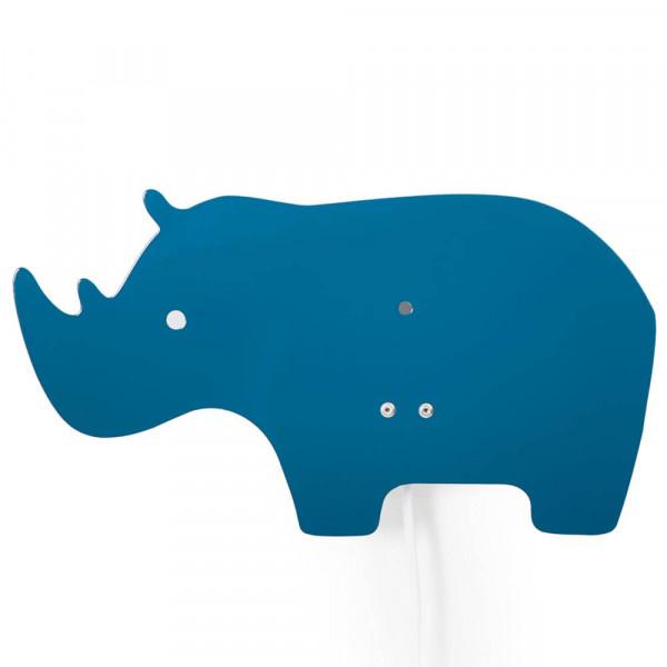 Roommate Wandlampe Metall Nashorn blau