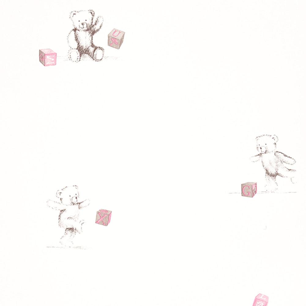 casadeco douce nuit tapete teddy b r grau rosa bei kinder. Black Bedroom Furniture Sets. Home Design Ideas