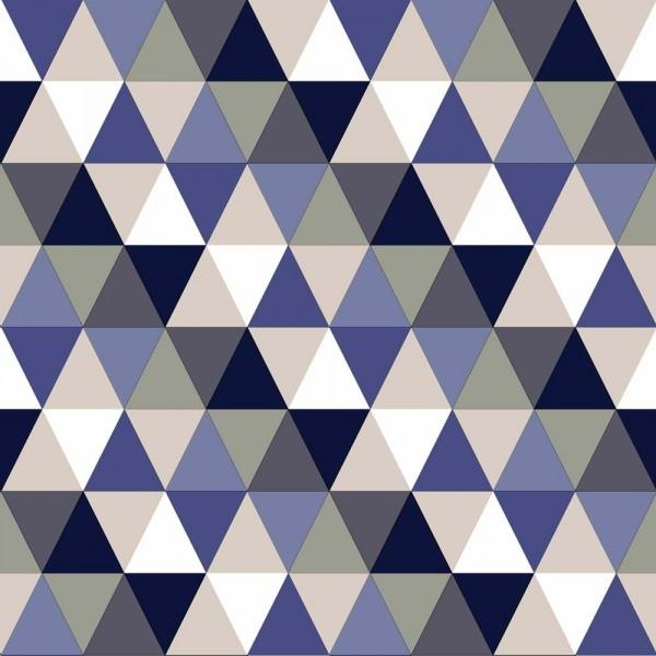 Rasch Textil Everybody Bonjour Tapete Dreiecke dunkelblau
