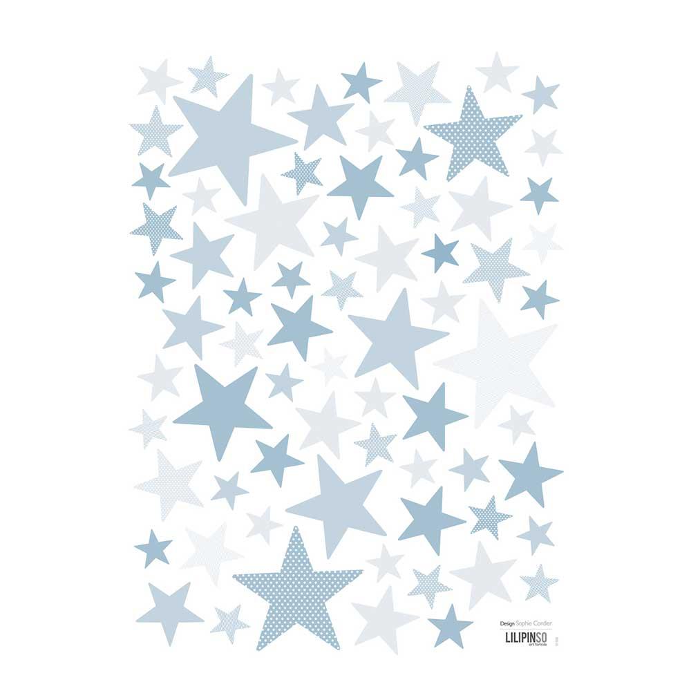 Lilipinso wandsticker a3 sterne zart blau bei kinder r ume - Wandsticker sterne ...