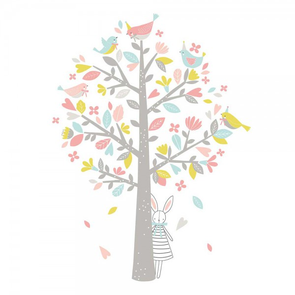 Lilipinso Wandsticker XL Baum pastellrosa