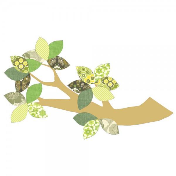 Inke Tapetenast gold grün