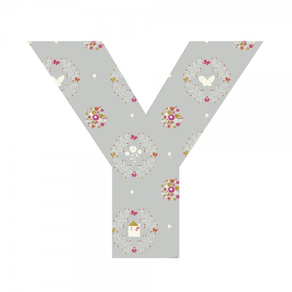 Lilipinso Sticker Buchstabe geblümt Y