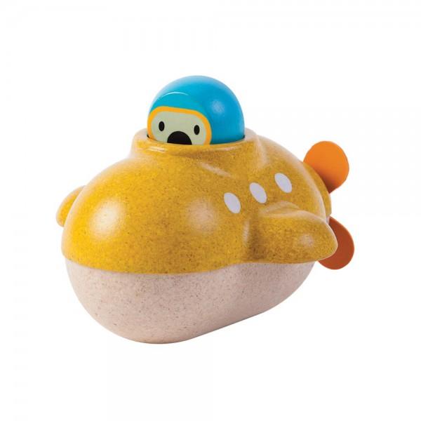 Plan Toys Badewannen U-Boot Holz gelb