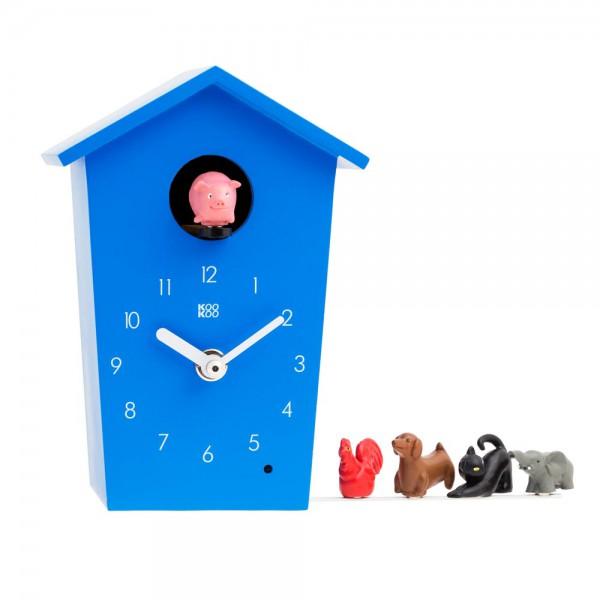Kookoo Kinderuhr Animal House blau