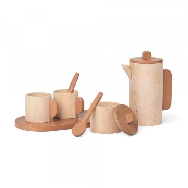 Ferm Living Spielzeug Tee-Set TORO Holz natur
